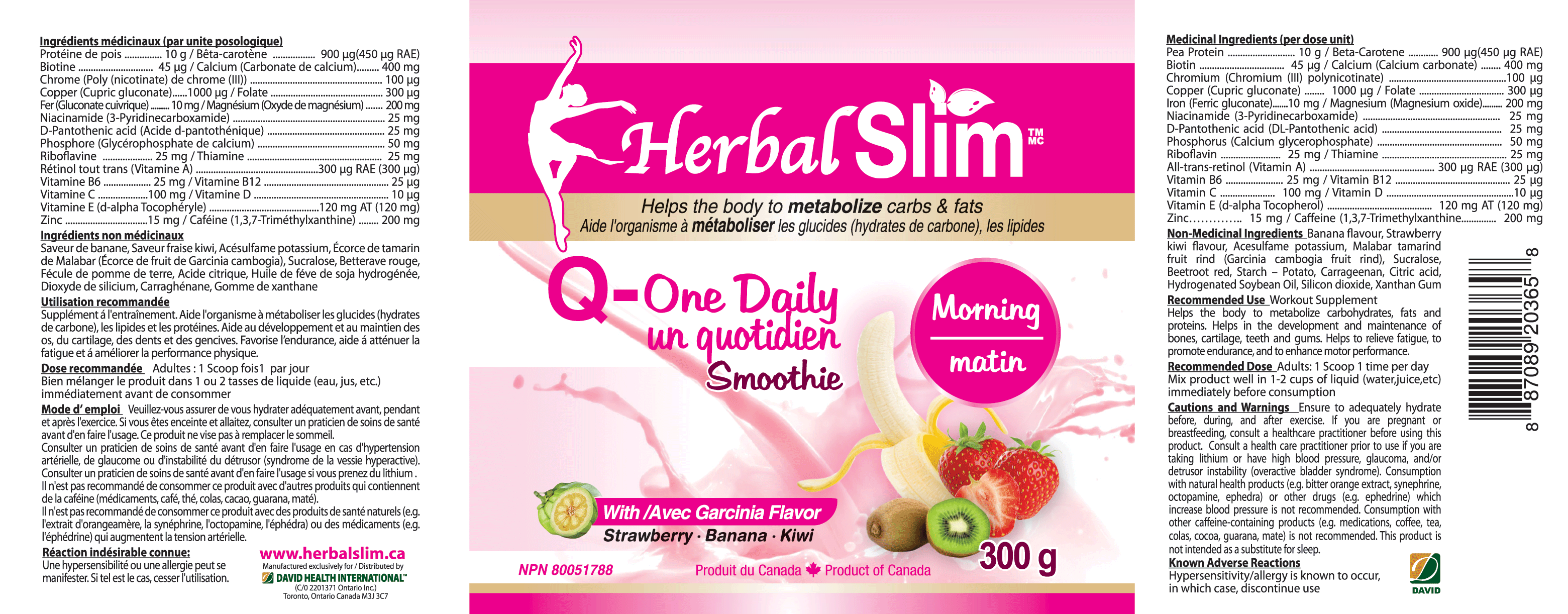 Herbal SLIM Q-ONE DAILY SMOOTHIE