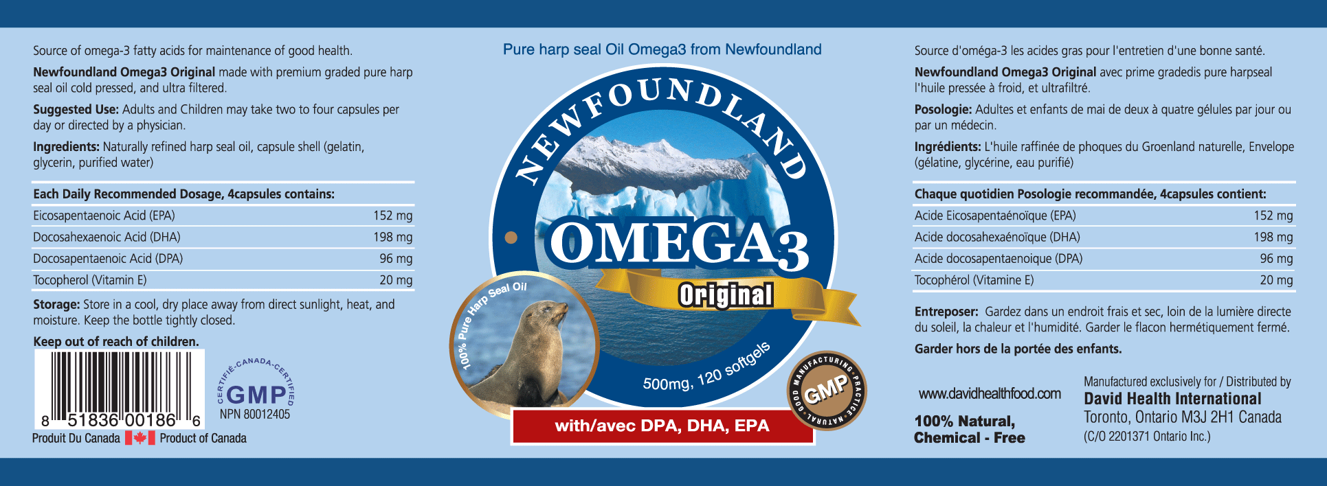 NEWFOUNDLAND OMEGA 3 TRAVEL